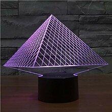 Usb Pyramide 3D Led Lampe Licht Bunte Nachtlichter