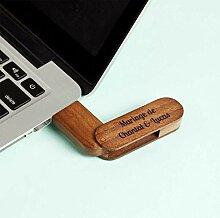 USB-Stick mit Gravur 4 GB | Flash Drive aus Holz