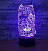 Usb Touch 3D Lampe Led Nachtlicht Nachtlicht Lampe