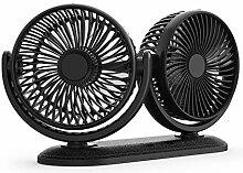 USB-Ventilator, Drehbare Dual Head Car Fan