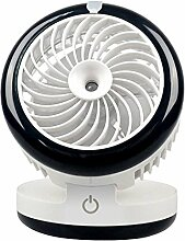 USB Ventilator Mini Fan Wasser und Luftbefeuchter Luftspray Tischventilator Handy Ventilator für Heiße Sommeraußen Reisen By Alxcio - Style 2 Schwarz