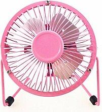 Usb-Ventilator mute Viertel Studenten mini Ventilator kleiner Schreibtisch Ventilator, Rosa