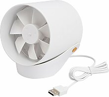 USB Ventilator Tischventilator für den Schreibtisch mit Touch Schalter, 2 Windgeschwindigkeit verstellbar weiß