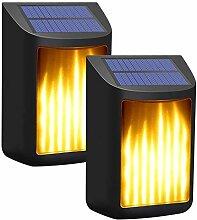 USB wiederaufladbar Solar Flamme Licht,