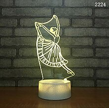 Usbled3d Nachtlicht kreative Tischlampe Geschenk