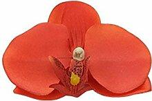 USDFJN Dekoration Künstliche Phalaenopsis Fake Vase Orange