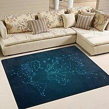Use7 Abstrakte Linie Weltkarte Teppich Teppich