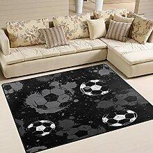 Use7 Abstrakter Fußball-Teppich mit Wasserfarbe,