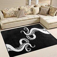 Use7 Abstrakter Kraken-Teppich für Wohnzimmer,