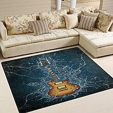 Use7 Abstrakter Teppich für elektrische Gitarre,