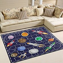Use7 Brettspiel Weltraum Planet Erde Teppich