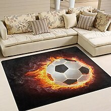 Use7 Fußball-Teppich, für Wohnzimmer,