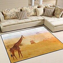 Use7 Giraffe bei Sonnenuntergang Afrika Landschaft