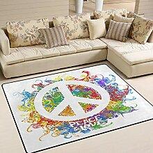 Use7 Hippie Peace Zeichen Love Area Teppich