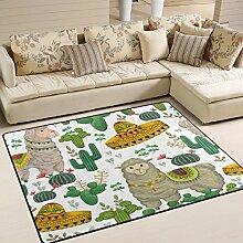 Use7 Llama Animal Sombrero Kaktus-Teppich, für