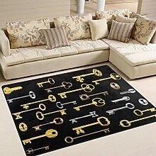 Use7 Lustiger Teppich mit Schlüsseln,