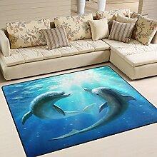 Use7 Ocean Sea Delphin Love Valentinstag Teppich