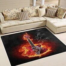 Use7 Teppich für E-Gitarre, für Wohnzimmer,