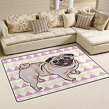 Use7 Teppich, für Hunderassen, Mops,