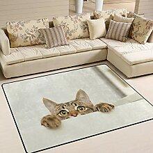 Use7 Teppich, für Katzen, für Wohnzimmer,