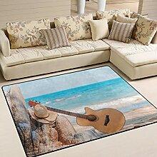Use7 Teppich für Sommer, Ozean, Strand, Himmel,