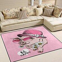 Use7 Teppich für Wohnzimmer, Schlafzimmer, Motiv:
