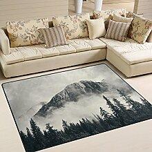 Use7 Teppich für Wohnzimmer, Schlafzimmer, Nebel