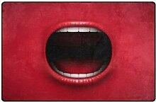 Use7 Teppich, für Wohnzimmer, Schlafzimmer, Rot,