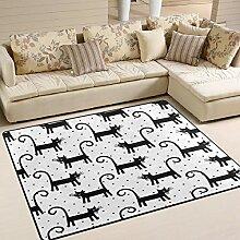 Use7 Teppich, für Wohnzimmer, Schlafzimmer,
