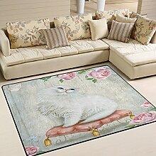 Use7 Teppich, für Wohnzimmer, Schlafzimmer und