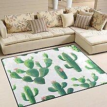 Use7 Teppich, Kaktusblüte, für Wohnzimmer,