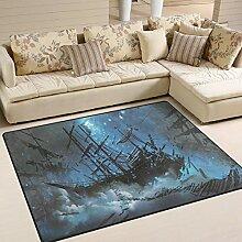 Use7 Teppich, Landschaft, Schiffe mit