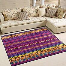 Use7 Teppich, mexikanischer Stil, Aztekenmuster,