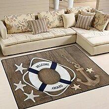 Use7 Teppich mit Anker und Seestern auf