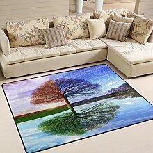 Use7 Teppich mit Baum des Lebens für Vier
