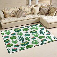Use7 Teppich mit Blütenkaktusblüten-Motiv, für