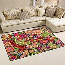 Use7 Teppich mit buntem Blumendruck und