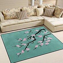 Use7 Teppich mit chinesischem Blumenmuster, für