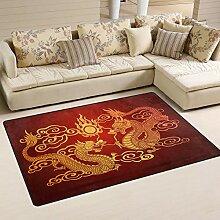 Use7 Teppich mit chinesischem Drachen-Motiv, für