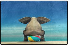 Use7 Teppich mit Elefantenmotiv, Strandball, für