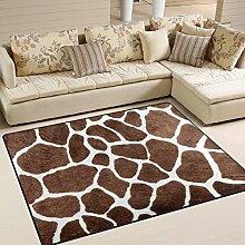 Use7 Teppich mit lustigem Giraffenmuster für