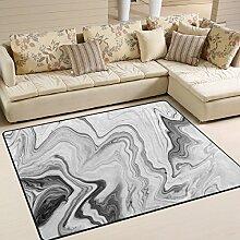 Use7 Teppich, mit Marmor-Druck, für Wohnzimmer,