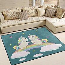 Use7 Teppich mit niedlichem Einhorn,