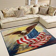 Use7 Teppich mit Ölgemälde, amerikanische