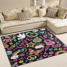 Use7 Teppich mit Peace-Zeichen und