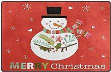 Use7 Teppich mit Schneemann und Schneeflocke,