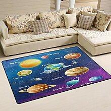Use7 Teppich mit Solarsystem, Planet Weltraum,