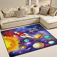 Use7 Teppich mit Solarsystem, Weltraum, Planet,