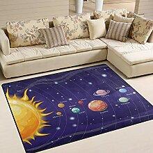 Use7 Teppich mit Solarsystem, Weltraum Planet