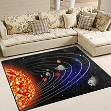 Use7 Teppich mit Sonnensystem, Universum und